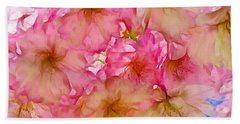 Hand Towel featuring the digital art Pink Blossom by Lilia D