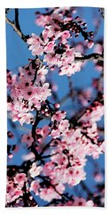 Pink Blossoms On The Tree Bath Towel
