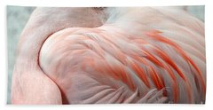 Hand Towel featuring the photograph Pink Flamingo II by Robert Meanor