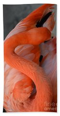 Pink Flamingo Bath Towel