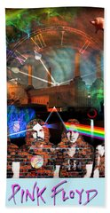 Pink Floyd Collage Bath Towel