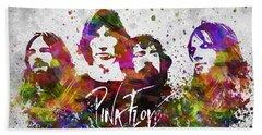 Pink Floyd In Color Bath Towel