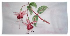 Pink Fuchsia's  Bath Towel by Elvira Ingram