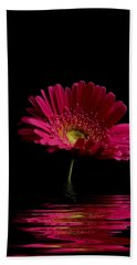 Pink Gerbera Flood 1 Bath Towel
