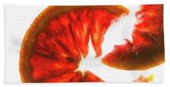 Pink Grapefruit, Backlit Hand Towel