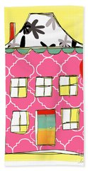 Pink House Bath Towel