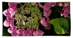 Pink Hydrangea Hand Towel by James C Thomas