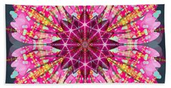 Bath Towel featuring the digital art Pink Lightning by Derek Gedney