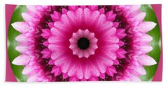 Bath Towel featuring the photograph Pink Lotus Kaleidoscope by Betty Denise