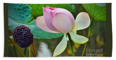 Pink Lotus Bath Towel