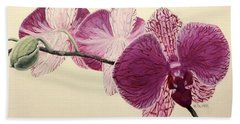 Pink Orchid Bath Towel