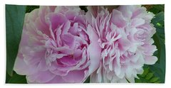 Pink Peonies 2 Hand Towel by HEVi FineArt