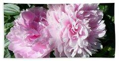 Pink Peonies 3 Bath Towel