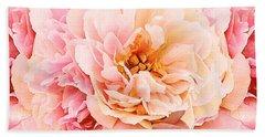 Pink Peony Bath Towel by Michele Avanti