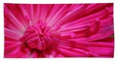 Pink Petals Bath Towel by Inspired Arts