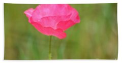 Pink Poppy Bath Towel