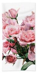 Pink Rose Bouquet Bath Towel