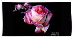 Hand Towel featuring the photograph Pink Rose  by Leanne Seymour