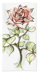 Pink Rose Bath Towel