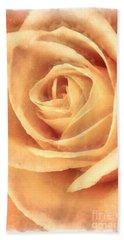 Pink Rose Watercolor Bath Towel