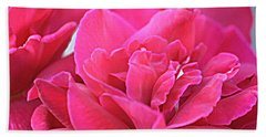 Pink Roses Bath Towel by Donna G Smith