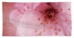 Pink Spring Blossom Bath Towel by Ann Lauwers