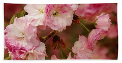 Pink Spring Blossoms Bath Towel