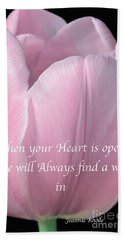Pink Spring Tulip Hand Towel by Jeannie Rhode
