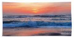 Pink Sunrise Panorama Hand Towel by Kaye Menner