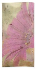 Bath Towel featuring the photograph Pink Textured Gazania by Sandra Foster