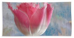 Pink Tulip Hand Towel by Mark Greenberg