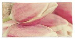 Pink Tulips Hand Towel