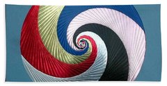 Bath Towel featuring the mixed media Pinwheel by Ron Davidson