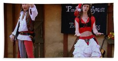 Pirate Shantyman And Bonnie Lass Hand Towel by Rodney Lee Williams