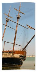 Bath Towel featuring the photograph Pirate Ship Or Sailing Ship by Sue Smith