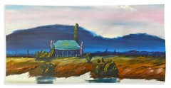 Bath Towel featuring the painting Pittown by Pamela  Meredith