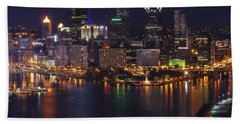 Hand Towel featuring the photograph Pittsburgh After The Setting Sun by Michelle Joseph-Long