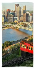 Pittsburgh Duquesne Incline Hand Towel by Adam Jewell