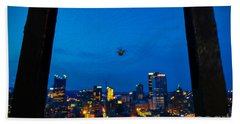 Pittsburgh Skyline At Night Bath Towel