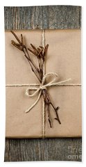 Plain Gift With Natural Decorations Bath Towel