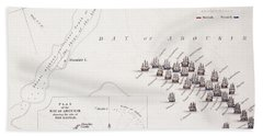 Plan Of The Battle Of The Nile Bath Towel