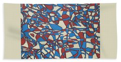 Planet Abstract Hand Towel