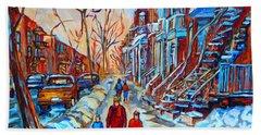 Plateau Montreal Street Scene Hand Towel