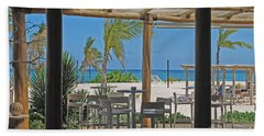 Playa Blanca Restaurant Bar Area Punta Cana Dominican Republic Hand Towel by Heather Kirk