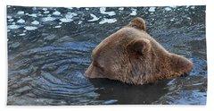 Playful Submerged Bear Bath Towel