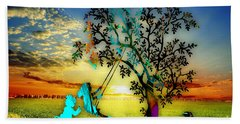 Playful Sunset Hand Towel by Marvin Blaine