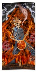 Playing With Fire Hand Towel by Glenn Holbrook