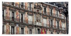 Plaza Mayor Hand Towel by Debi Demetrion