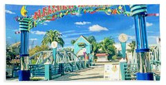 Pleasure Island Sign And Walkway Downtown Disney Hand Towel