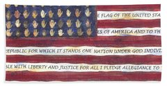 Pledge Flag Bath Towel